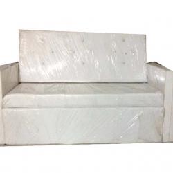 Saharanpur Wooden Sofa - Wedding Reception Sofa - Made Of High Quality Cushin & Fabric - White Color
