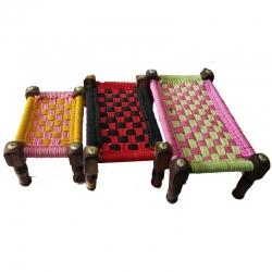 Beautifull Handmade Decorative Wood Charpai Set of 3.