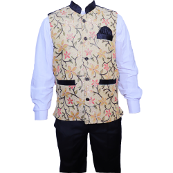 Waiter Uniform - Bartender Coat or Vest - Kitchen Uniform - Full-Neckline - Sleeve-less - Made of Premium Quality Polyester & Cotton - (Available size 38 , 40 , 42 , 44 , 46 , 48)