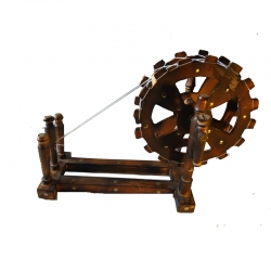 19 INCH - Wooden Charkha - Wooden Spinning Wheel for Home Decor & Gift