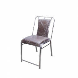 Steel Chairs - Banquet Chairs - Made Of Stainless Steel - Maroon Color.
