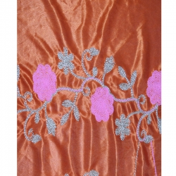 Designer Brite Lycra - Embroidery Work - Panna 52 Inch - Fine Fabric Heavy Quality Cloth Material - Hand Made Work