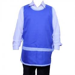 Suiting terry cotton Heavy fabric Kitchen Apron Sky Blue Color .
