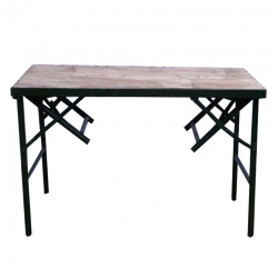 4 FT X 2 FT - Rectangular Table - 2 in 1 - Tea Table - Catering  Table - Made of Wood (Babul Falli) & Iron - Weight 29 KG