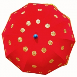 4.5 FT - Finish Fancy Umbrella - Wedding Umbrella - Red Color