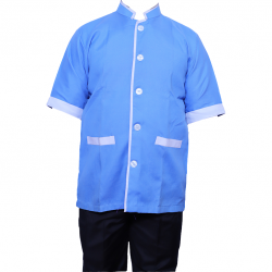 Kitchen Uniform - Chef Coat - Chef Vest  - Unisex Chef Uniform - Kitchen Apparel - Half Sleeves - Made Of Premium Quality Cotton - Piping Trim & Buttons (Available size 38 , 40 , 42 , 44 , 46 , 48)