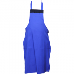 Cotton Kitchen Apron without Pocket - Blue Color