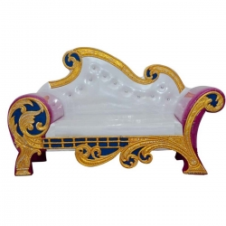Wedding Reception Sofa Made Of Wood & Metal - White Color.