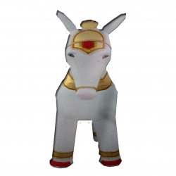 Inflatable Horse - Air Blown Inflatable Outdoor Characters Horse- Made Of PVC Vinyl - White Color - Pack Of 1 With Motor.