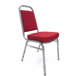 Royal Banquet Chair - Decoration Chair - Red & Silver Color.