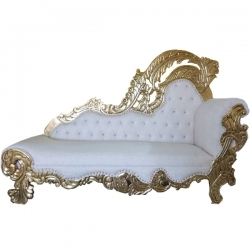 White Color - Udaipur - Rajasthani - Heavy - Premium Couches - Sofa - Wedding Sofa - Wedding Couches - Made of Wooden & Metal