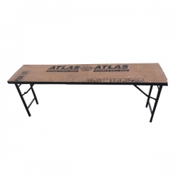 1.5 FT X 6 FT - Rectangle Table - Catering  Table - Made of Wood (Babul Falli) & Iron - Weight - 18 KG