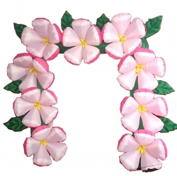 Inflatable Flower Arch - Party Attraction Items - Made Of PVC Vinyl - Multi Color - With 150 Watt Motor.