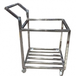 36 Inch - Dustbin Trolley - Dustbin Stands Holder - Made of Stainless Steel