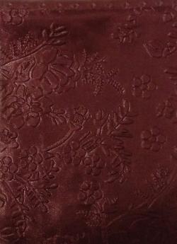 Heavy Emboss - Meena Kari Work On Warp Nitting Crush Cloth - 48 Inch Panna - 5 Meter Quality - Brown Color .
