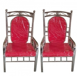 Red Color - Wedding Chair - Varmala Chair - Chair Set - Mandap Chair - Lagan Mandap Chair - Steel Chair - Made Of Stainless Steel