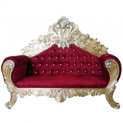 Red Color - Udaipur - Rajasthani - Heavy - Premium Couches - Sofa - Wedding Sofa - Wedding Couches - Made of Wooden & Metal.