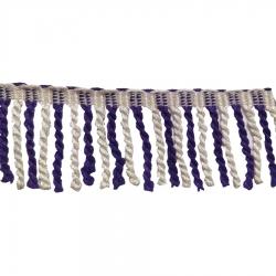 3 Inch Val Jhalar Lace - 25 Meter - Cotton Lace - Curtain Lace - Decorative Laces - Sajavt Lace - Embroidery Lace -Color Purple & White .