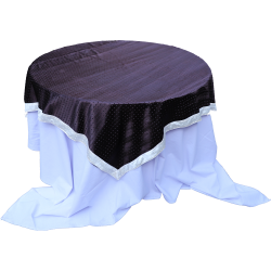 4 FT X 4 FT - Round Table Cover - Made of Premium Quality Brite Lycra - Top Velvet Fabric Cloth - Dark Chocolate Color