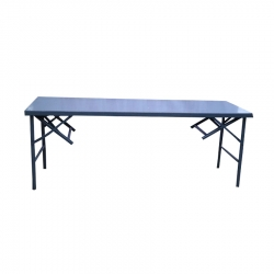 6 FT X 2 FT - 2 in 1  Rectangle Table -Catering Table - Made of Wood & Iron .