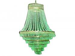 18 INCH X 24 INCH - Crystal Ceiling Jhumar - Hanging Jhumar - White Color