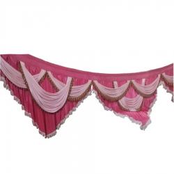 Wedding Entry Gate Cloth / Mandap Jalhar For Wedding & Party / Pink Color.