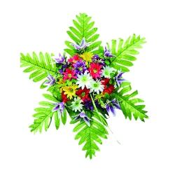 2 FT - Artificial Plastic Flower Bouquet - Flower Decoration - Multi Color