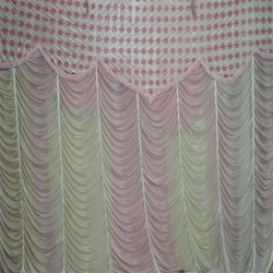 Mandap Stage Parda - Side Wall Parda - Stage Curtain - Background Curtain Multi Color