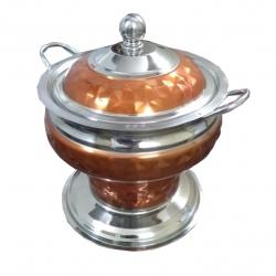 6 LTR - Chafing Dish - Garam Set - Hot Pot - Stainless Steel Whit Copper - Handi Shape