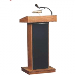 4 FT - Royal High Quality Heavy Podium - Presentation Dias Made Of Wooden  - Black Color.( With out Mic )
