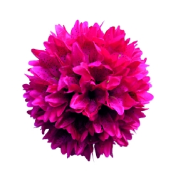 12 Inch - Artificial Plastic Hanging Flower Ball - Flower Decoration - Pink Color