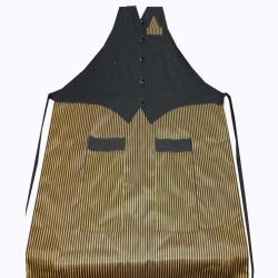Jacket Cotton - Kitchen Apron - With Front Pocket - Golden & Black Color