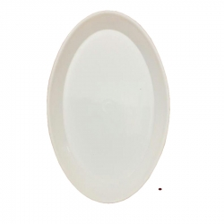 5 Inch Oval Shape Plate - Snack Plate -  Made Of Food Grade Virgin Plastic - White Color