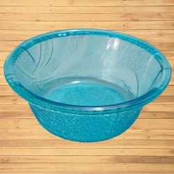 3.5 Inch Itching Round Bowl - Wati - Katori - Curry Bowls Made Of Food Grade Virgin Plastic - Sky Blue Color