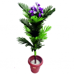 3.5 FT - Artificial Plastic Flower Plant - Flower Tree with Pot - Multi Color
