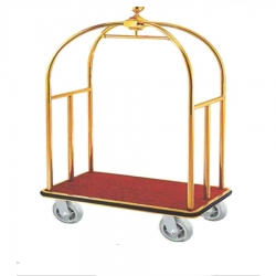 Royal Heavy Quality Maharaja Luggage Trolley (Stainless Steel) for Hotels & Banquet Hall