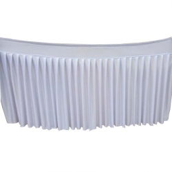 Table Cover Frill - Made of Brite Lycra - White Color (Size Available 10 FT X 15 FT X 20 FT X 30 FT )