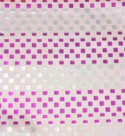 9MM Square Bharchak - Streep Foil - 24 Gauge Brite Lycra - 54  Inch Panna - Square Tikli Work - White Color .