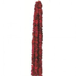 5 FT - Artificial Plastic Flower Garland Toran - Flower Ladi - Flower Decoration - Maroon Color (1 Packet - 12 Pieces)
