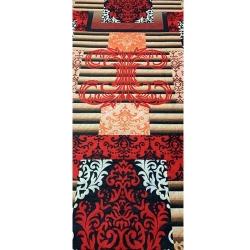 3D Multi Color - 10 FT X 98 FT Size - Premium - Non Woven Jute Carpet - Mat - Floor Mat