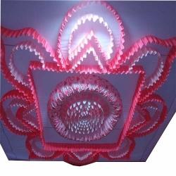 Designer Mandap Ceiling Cloth - Top 14 KG Taiwan - Design Brite Lycra Cloth - Pink & White Color