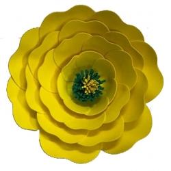 18 Inch - Artificial Foam Flower - Decorative Flower - Yellow Color