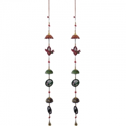 Rajasthani Handcrafted Peacock Door Hanging Wedding Decor / Multi Color