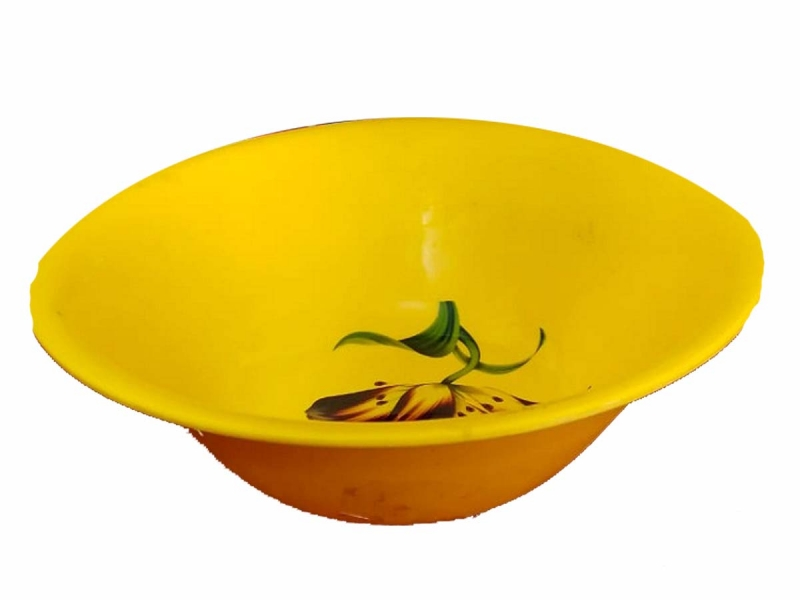 10 Inch Donga Bowls - Dessert Bowls - Made Of Food Grade Plastic - Yellow Color