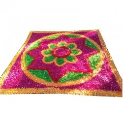 9.5 x 9.5 Feet Mandap Rangoli Chadar / Decorative Chadar / Multi Color