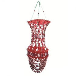 2 FT - Artificial Jhumar - Handmade Hanging Jhumar - Red & White Color