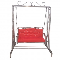 Heavy Swing - Jhula Made Of 100 % Stainless Steel / Red Color.