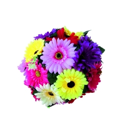 12 Inch - Artificial Plastic Hanging Flower Ball - Flower Decoration - Multi Color