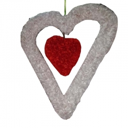 2 FT - Decorative Heart Shape Latkan - Jhumar - Wall hanging For Wedding & Reception .