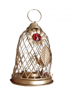 6 INCH - Pinjra Jhumar - Bell Design - Hanging Jhumar - Golden Color